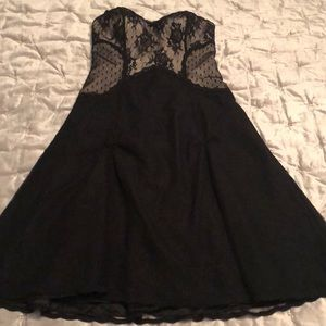 White House Black Market Lacy Dress Strapless